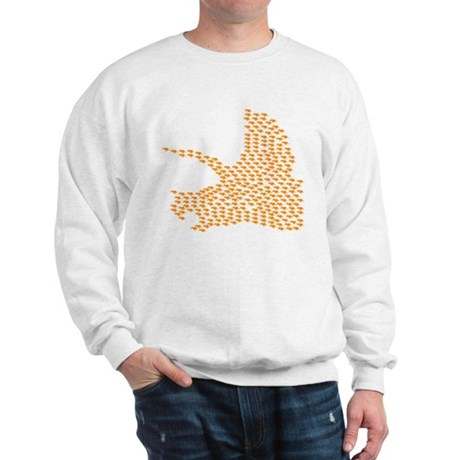 Orange Triceratops Collage Sweatshirt