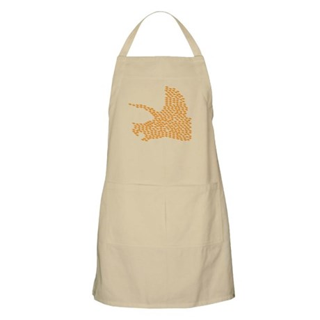 Orange Triceratops Collage BBQ Apron