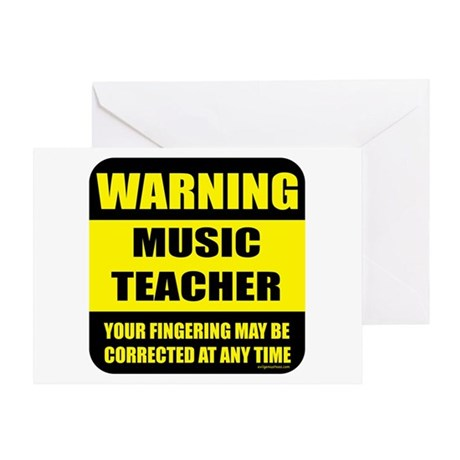 Warning music teacher sign Greeting Card