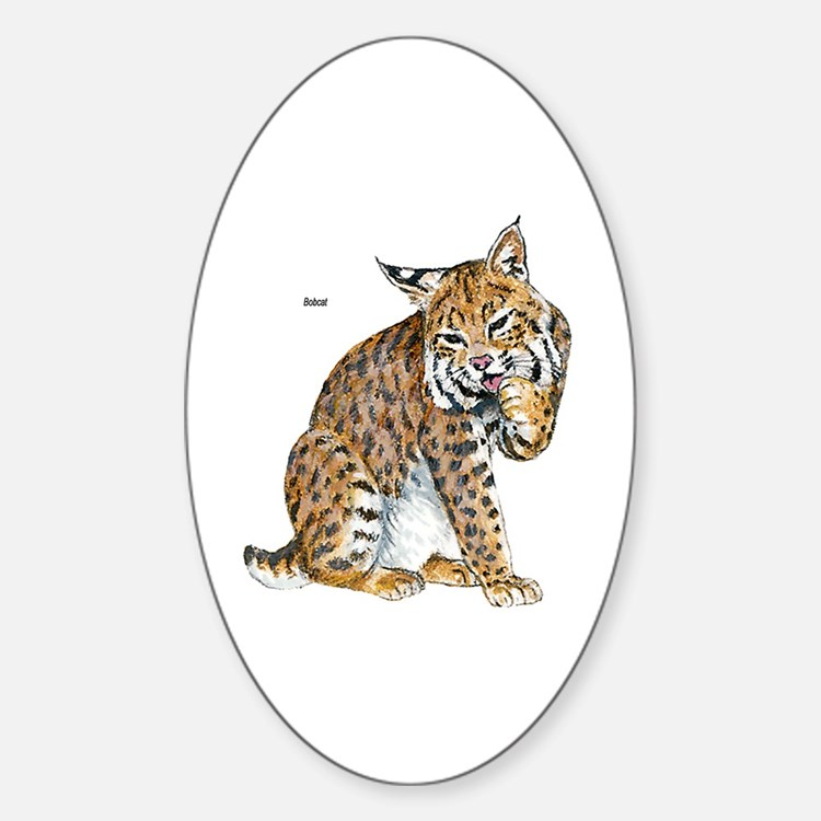 Bobcat Wild Cat Oval Decal