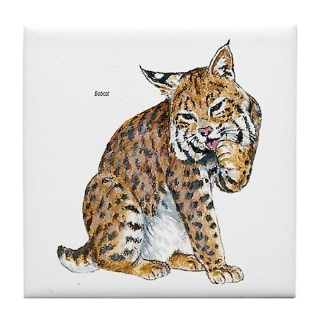 Bobcat Wild Cat Tile Coaster
