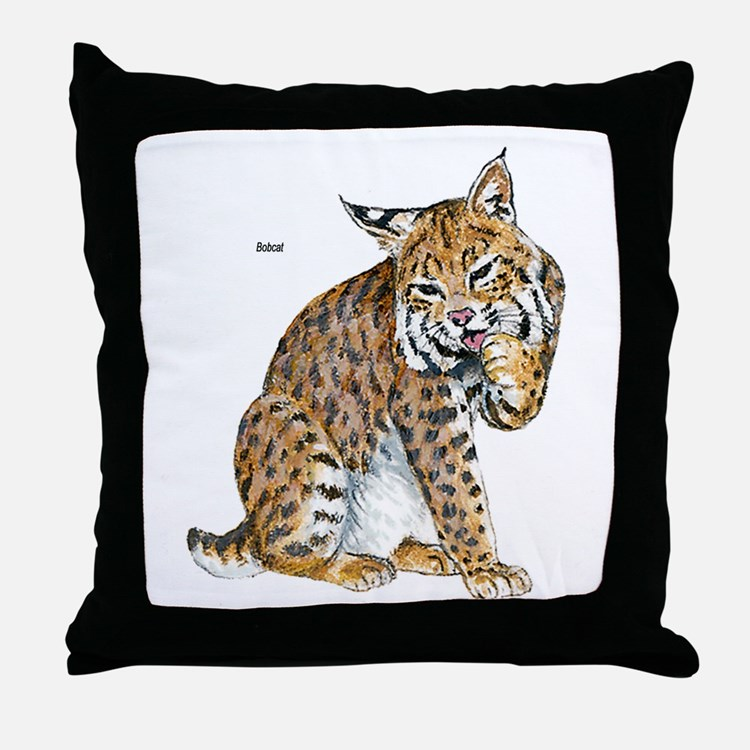 Bobcat Wild Cat Throw Pillow