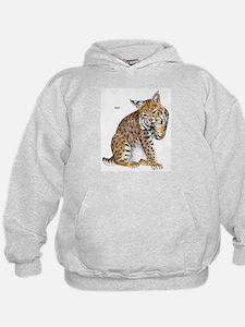 Bobcat Wild Cat (Front) Hoodie