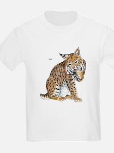 Bobcat Wild Cat (Front) Kids T-Shirt