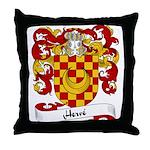 Herve Family Crest Throw Pillow