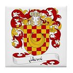 Herve Family Crest Tile Coaster