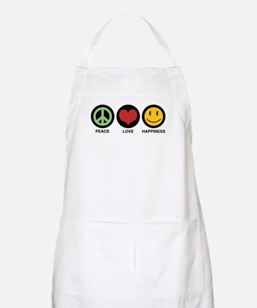 Peace Love Happiness BBQ Apron