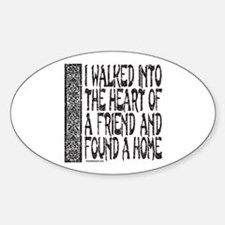HEART OF A FRIEND Oval Decal