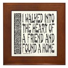 HEART OF A FRIEND Framed Tile