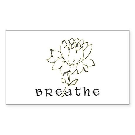 Breathe Rectangle Sticker