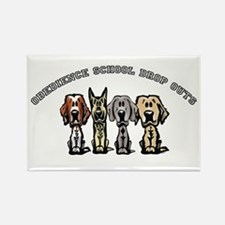 Obedience School Drop Out Rectangle Magnet