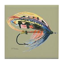 Fishing Lure Art Tile Coaster