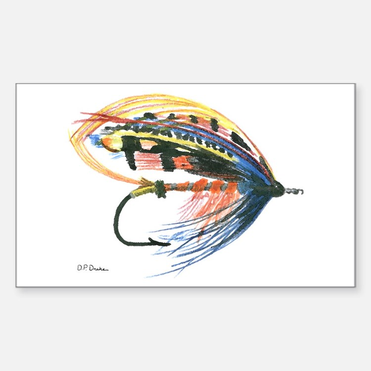Fishing Lure Art Rectangle Decal