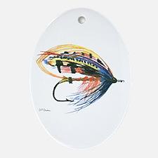 Fishing Lure Art Oval Ornament