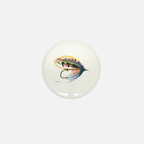 Fishing Lure Art Mini Button