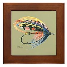 Fishing Lure Art Framed Tile