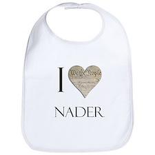 I Heart Nader Bib