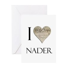 I Heart Nader Greeting Card