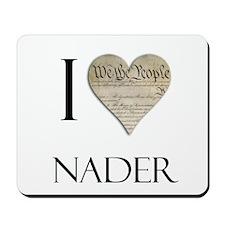 I Heart Nader Mousepad