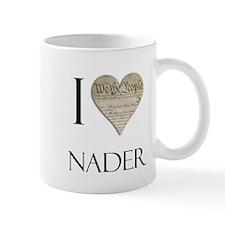 I Heart Nader Small Mug