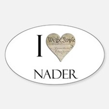 I Heart Nader Oval Decal