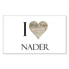 I Heart Nader Rectangle Decal
