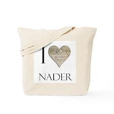 I Heart Nader Tote Bag