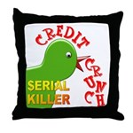 The Credit Crunch Throw Pillow