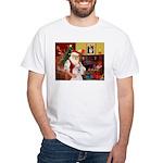 Santa's Std Poodle(w) White T-Shirt