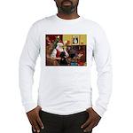 Santa's Poodle (ST-B4) Long Sleeve T-Shirt