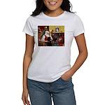 Santa's Poodle (ST-B4) Women's T-Shirt