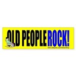 Old People Rock! (Bumper Sticker)