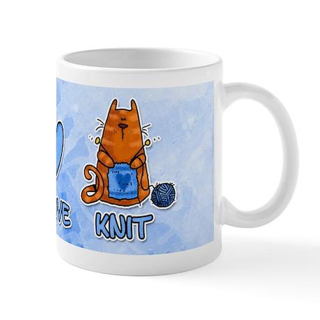 peace, love, knit Mug