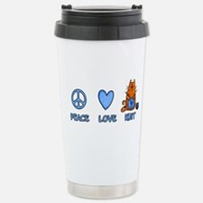peace, love, knit Stainless Steel Travel Mug