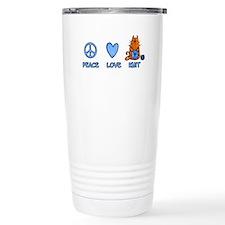 peace, love, knit Travel Mug