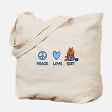 peace, love, knit Tote Bag