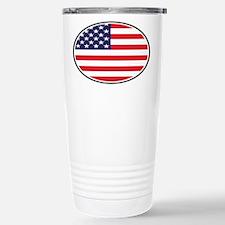 US Oval Flag Travel Mug