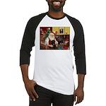 Santa's Black Pug Baseball Jersey