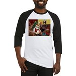Santa's Rat Terrier Baseball Jersey