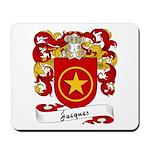 Jacques Family Crest Mousepad