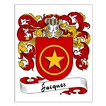 Jacques Family Crest Small Poster