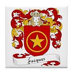 Jacques Family Crest Tile Coaster