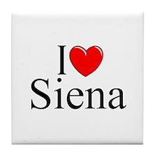 """I Love (Heart) Siena"" Tile Coaster"