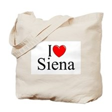 """I Love (Heart) Siena"" Tote Bag"