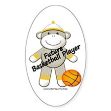 Future Basketball Player Oval Decal