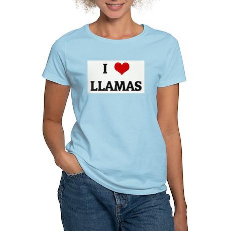 I Love LLAMAS Women's Light T-Shirt
