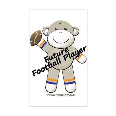 Future Football Player Rectangle Sticker