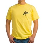 The Masonic Plumb, Square and Gage Yellow T-Shirt