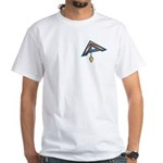 The Masonic Plumb, Square and Gage White T-Shirt