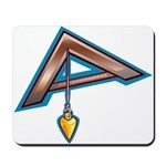 The Masonic Plumb, Square and Gage Mousepad